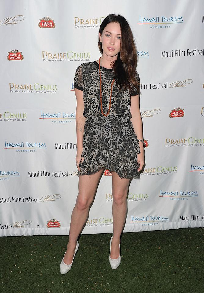 Megan Fox arrives at the 2011 Maui Film Festival at the Celestial Cinema on June 15, 2011 in Wailea, Hawaii.