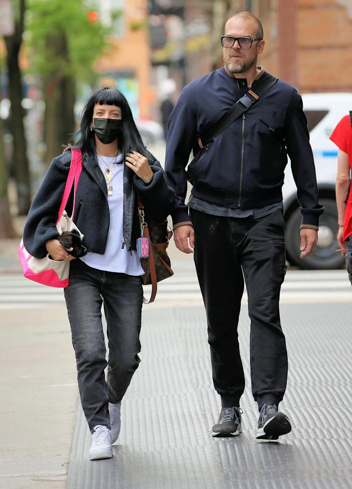 <p>Lily Allen and David Harbour head to Brooklyn for lunch on Tuesday.</p>