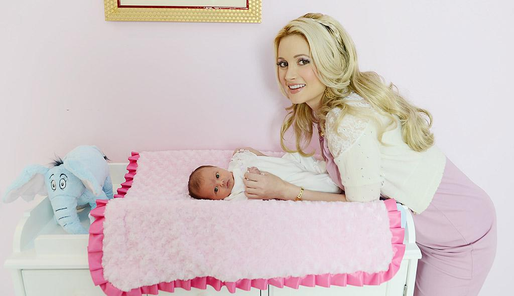 "<a href=""https://www.facebook.com/hollymadison"" target=""_blank"">HOLLY MADISON and daughter Rainbow Aurora Rotella </a><br />My best Mother's Day is going to be this year's - my first one as a mom! I can't wait to go out for Mother's Day brunch with my boyfriend and daughter. I'm also planning on making plaster hand and footprints with Rainbow - I haven't done that yet!"