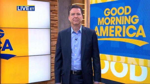 PHOTO: James Comey appears on 'Good Morning America,' April 17, 2018. (ABC News)