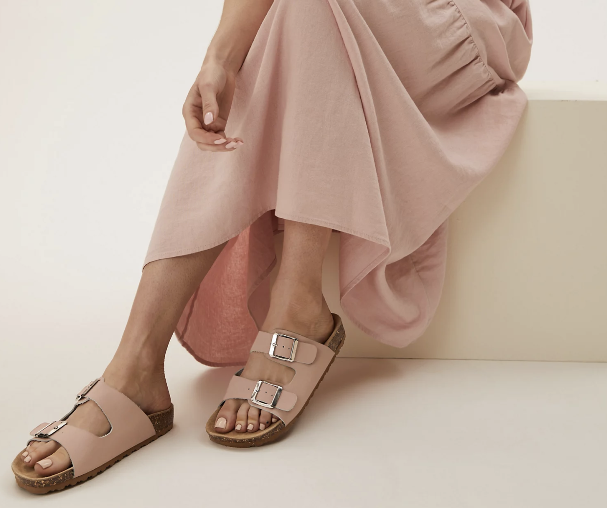 The affordable sandals come in multiple colours. (Marks & Spencer)