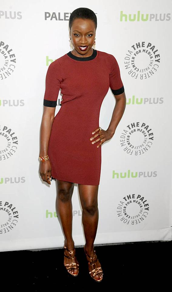"Danai Gurira attends the 30th Annual PaleyFest featuring the cast of ""The Walking Dead"" at Saban Theatre on March 1, 2013 in Beverly Hills, California."