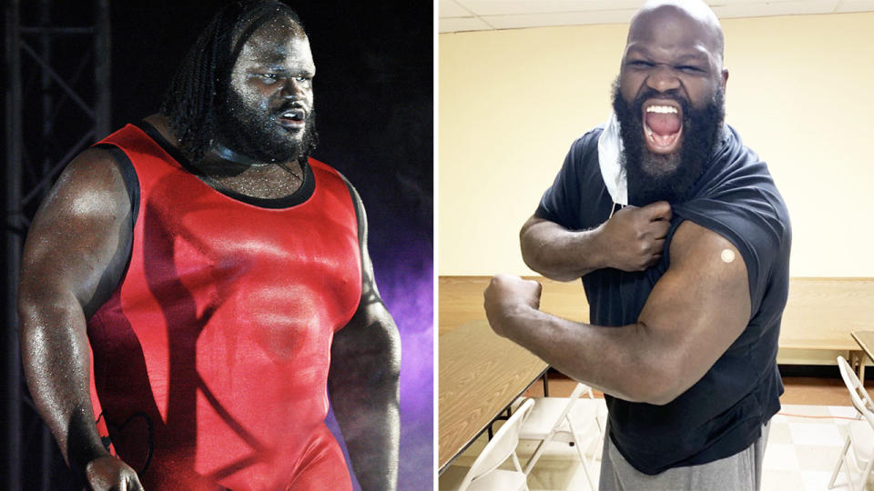 Mark Henry, pictured here after losing 38kg.