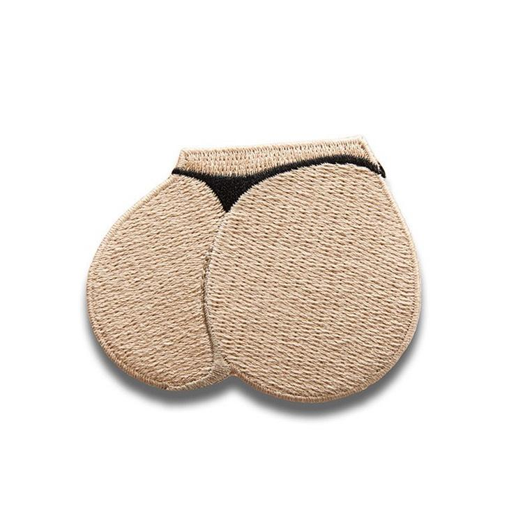 <p>Get out the sewing box – here's your very own Kim K bum patch. Copyright: [Kimoji] </p>