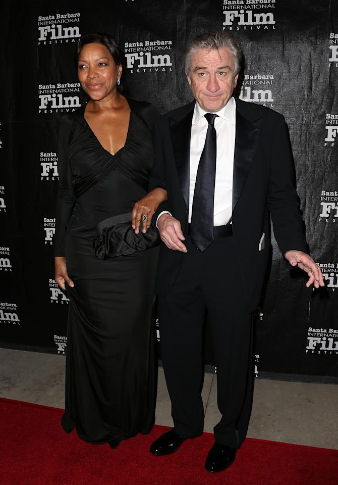 GOLETA, CA - DECEMBER 08: Grace Hightower (L) and actor Robert De Niro attend the SBIFF's 2012 Kirk Douglas Award For Excellence In Film during the Santa Barbara Film Festival on December 8, 2012 in Goleta, California.  (Photo by Frederick M. Brown/Getty Images)