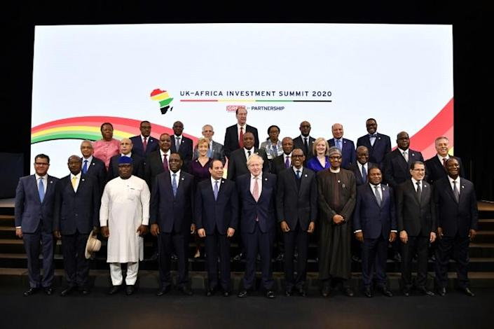 The first UK-Africa Investment Summit in London involved 16 national leaders and representatives of another five countries (AFP Photo/Ben STANSALL)