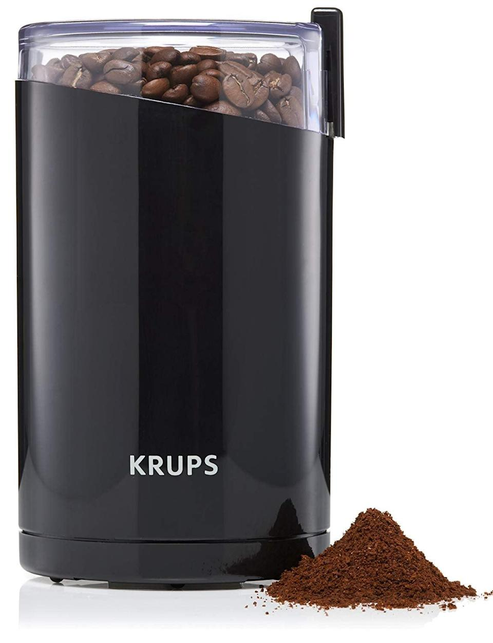 <p>With the <span>Krups Electric Coffee Grinder</span> ($16, originally $30), everyone's lives become so much easier.</p>