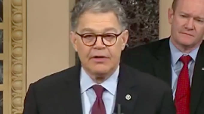 Al Franken Uses Final Senate Speech To List Trump's Lies To The American People