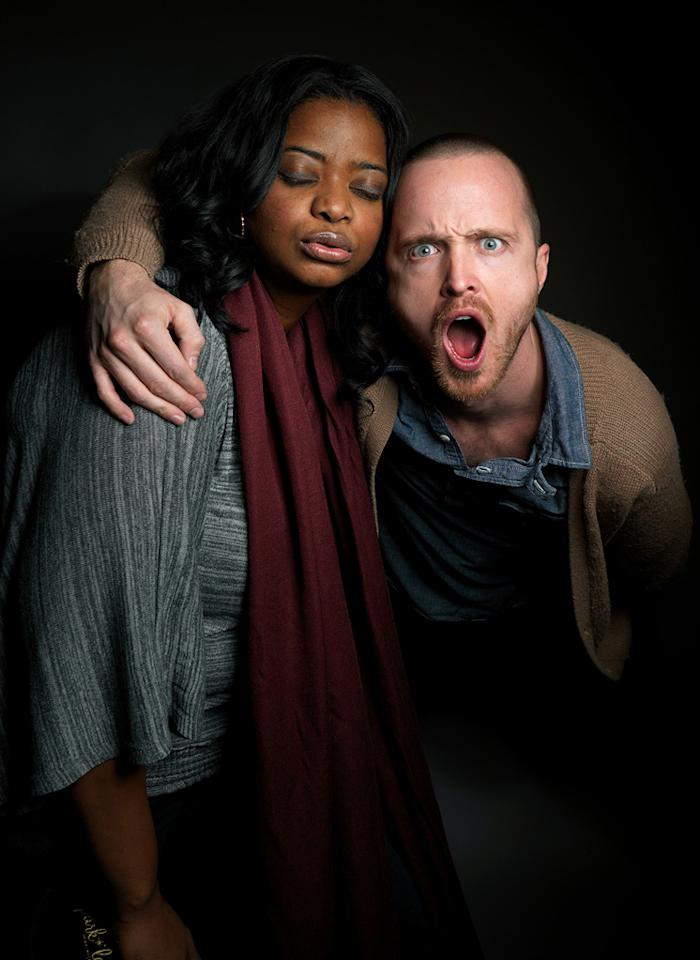 "Octavia Spencer, left, and Aaron Paul, from the film ""Smashed,"" pose for a portrait during the 2012 Sundance Film Festival on Sunday, Jan. u000a22, 2012, in Park City, Utah."
