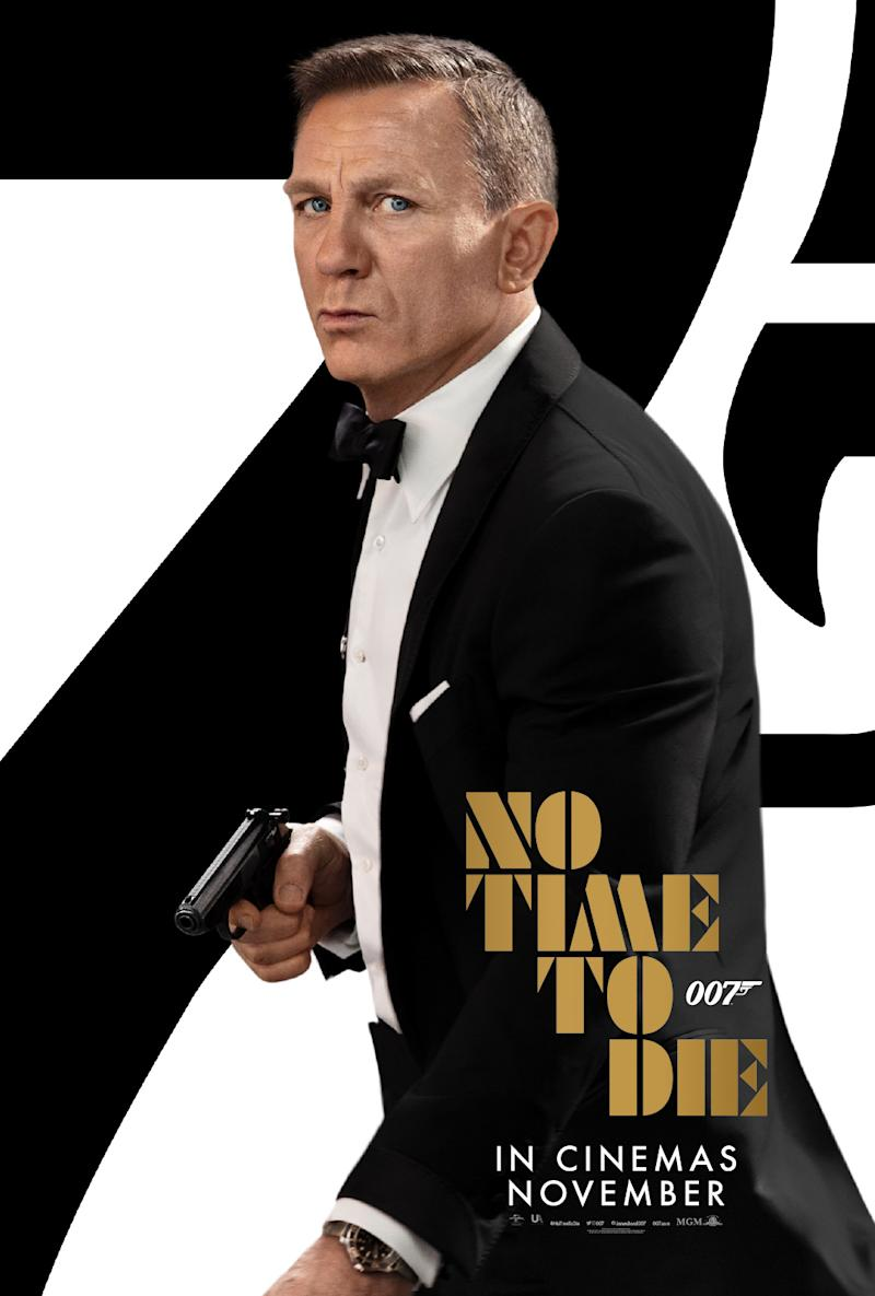Daniel Craig as Ian Fleming's James Bond 007 in the new poster for No Time To Die. (Universal/MGM)