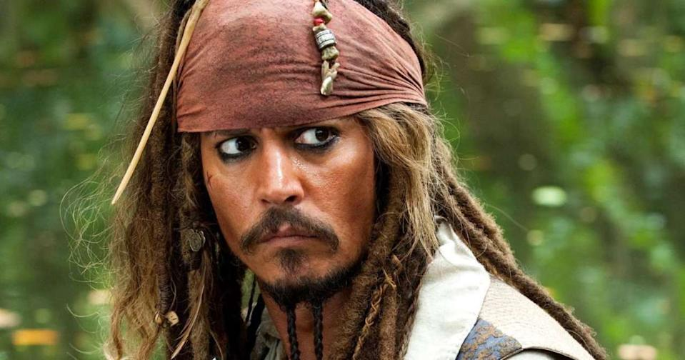 Johnny Depp as Captain Jack Sparrow in the 'Pirates of the Caribbean' franchise. (Credit: Disney)