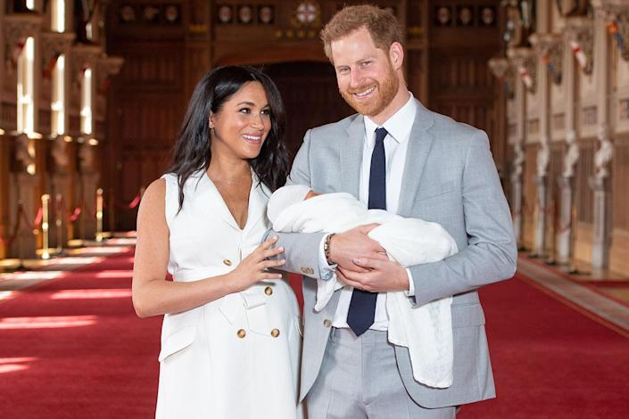 """<p>Harry and Meghan were glowing with pride when they introduced Archie at St. George's Hall at Windsor Castle. </p> <p>""""Parenting is amazing,"""" Harry said at the time. """"It's only been two and a half days, but we're just so thrilled to have our own little bundle of joy.""""</p>"""