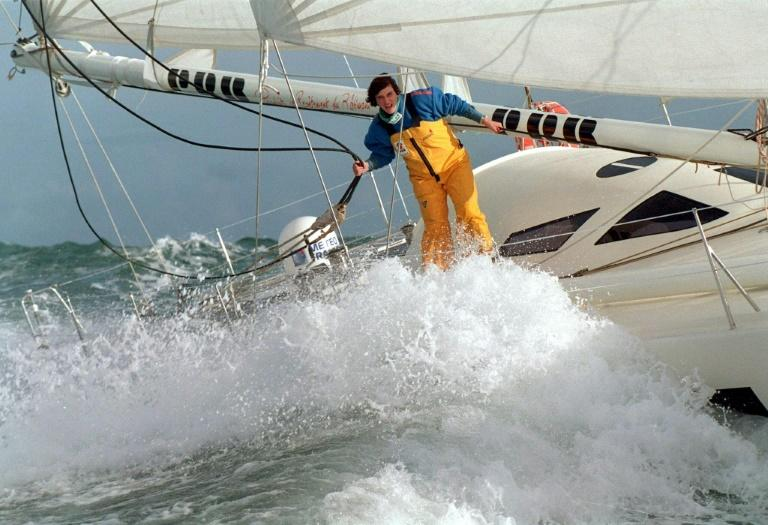 Sailor Isabelle Autissier was the first woman to circumnavigate the globe alone (AFP Photo/MARCEL MOCHET)