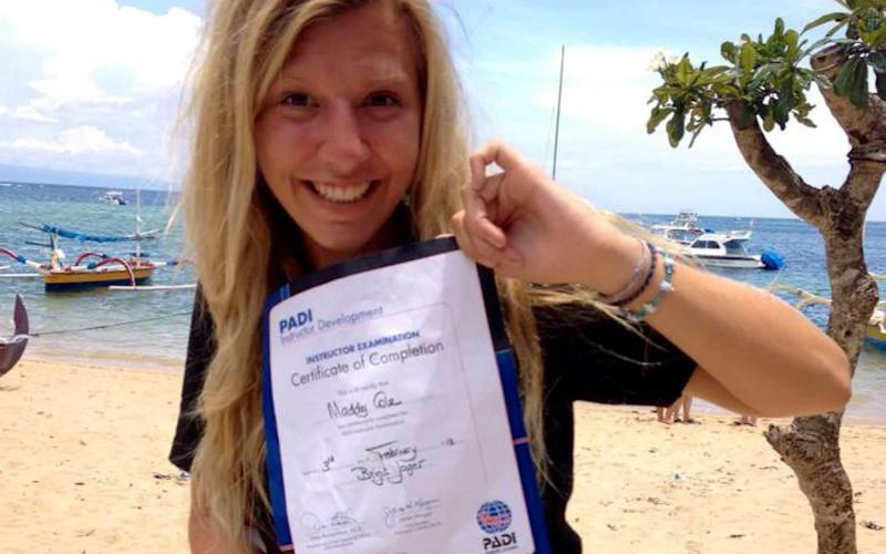 An investigation found Madaline Cole - a newly qualified diving instructor - was snorkelling outside the safe area marked by buoys - SWNS +44 (0)1179066550