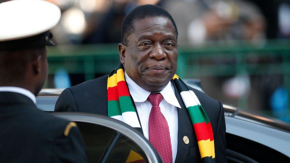 Emmerson Mnangagwa took power after Robert Mugabe was forced to resign in 2017