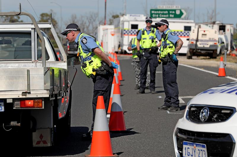 The West Australian Government enforced strict intrastate border closures. Source: AAP