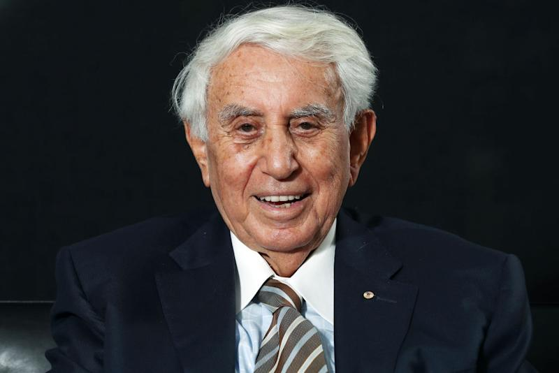 Harry Triguboff, founder and managing director of Meriton Pty, poses for a photograph in Sydney, Australia, on Friday, Feb. 1, 2019. Triguboff is remarkably calm about Australia's worst real estate slump in a generation considering he's got more at stake than perhaps anyone on the planet. The developer plans to push on with expansion, even as the Sydney property market slides deeper into the doldrums. Photographer: Brendon Thorne/Bloomberg