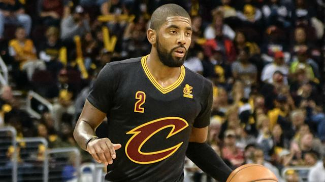 Kyrie Irving hit a key 3-pointer to help the Cavaliers beat the Raptors in a repeat of last season's Eastern Conference championship. He could take some of the load off King James.
