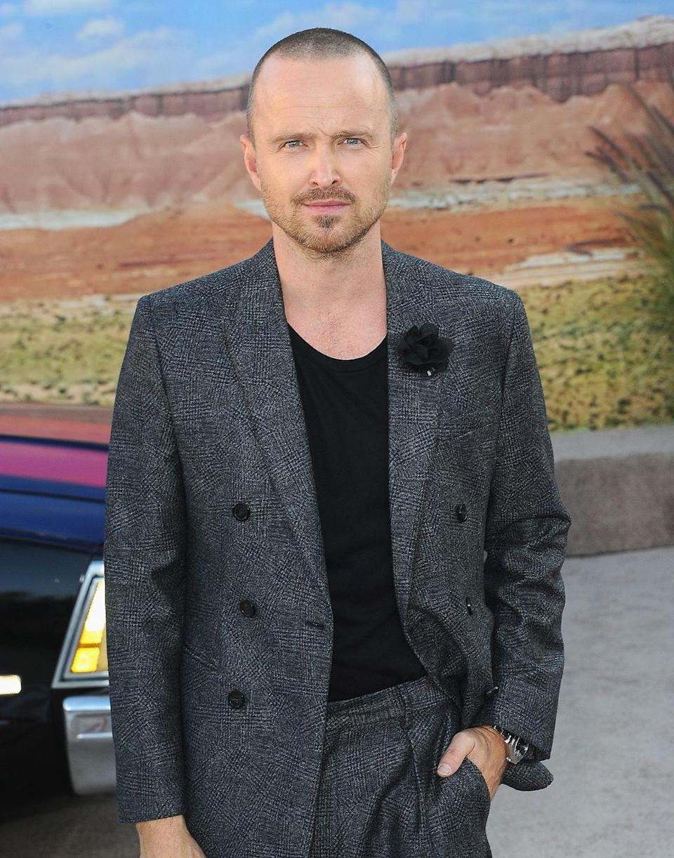 <p>It would almost feel strange to see Aaron Paul without his almost-bald head from <em>Breaking Bad</em>. Though it became a signature look, the actor only shaved his head while filming the hit TV show. </p>