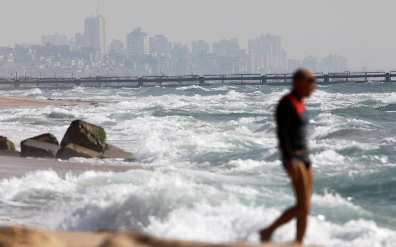 The maritime border between Israel and the Gaza Strip as it is seen from the Israeli side near Zikim - REUTERS