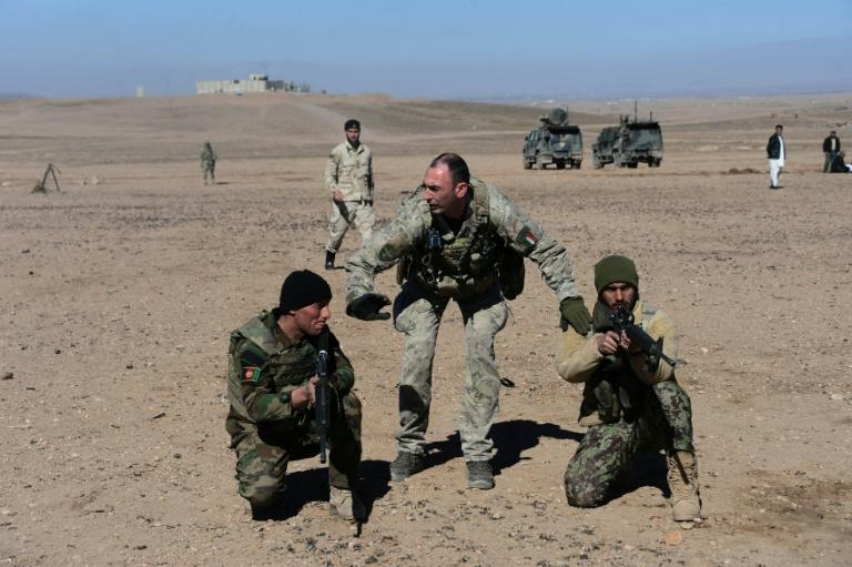 Italian instructors in western Afghanistan have been using the relatively quiet winter to train local troops in how to battle the Taliban