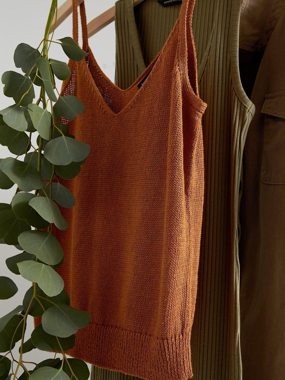 <p>This <span>Heritage Linen Sweater Tank</span> ($52, originally $65) under a blazer or denim jacket will look so cool and relaxed.</p>