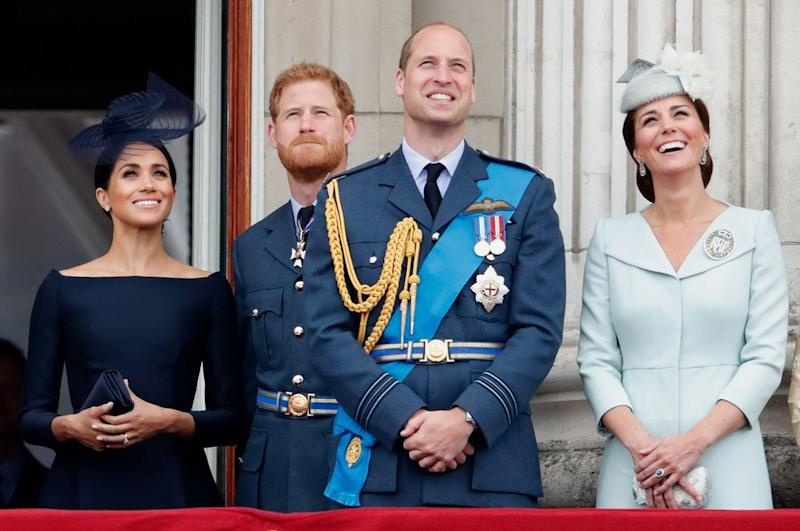 Meghan Markle, Prince Harry, Prince William and Kate Middleton | Max Mumby/Indigo/Getty