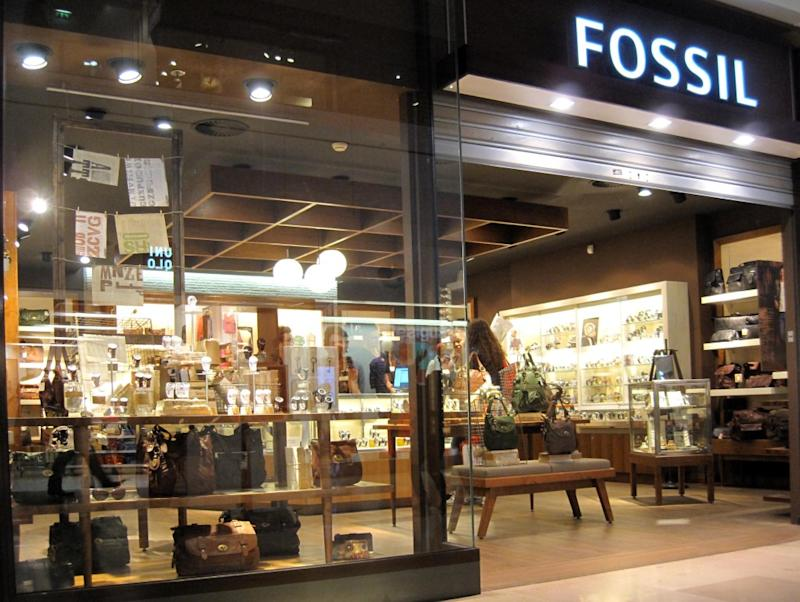 The entrance to a Fossil store