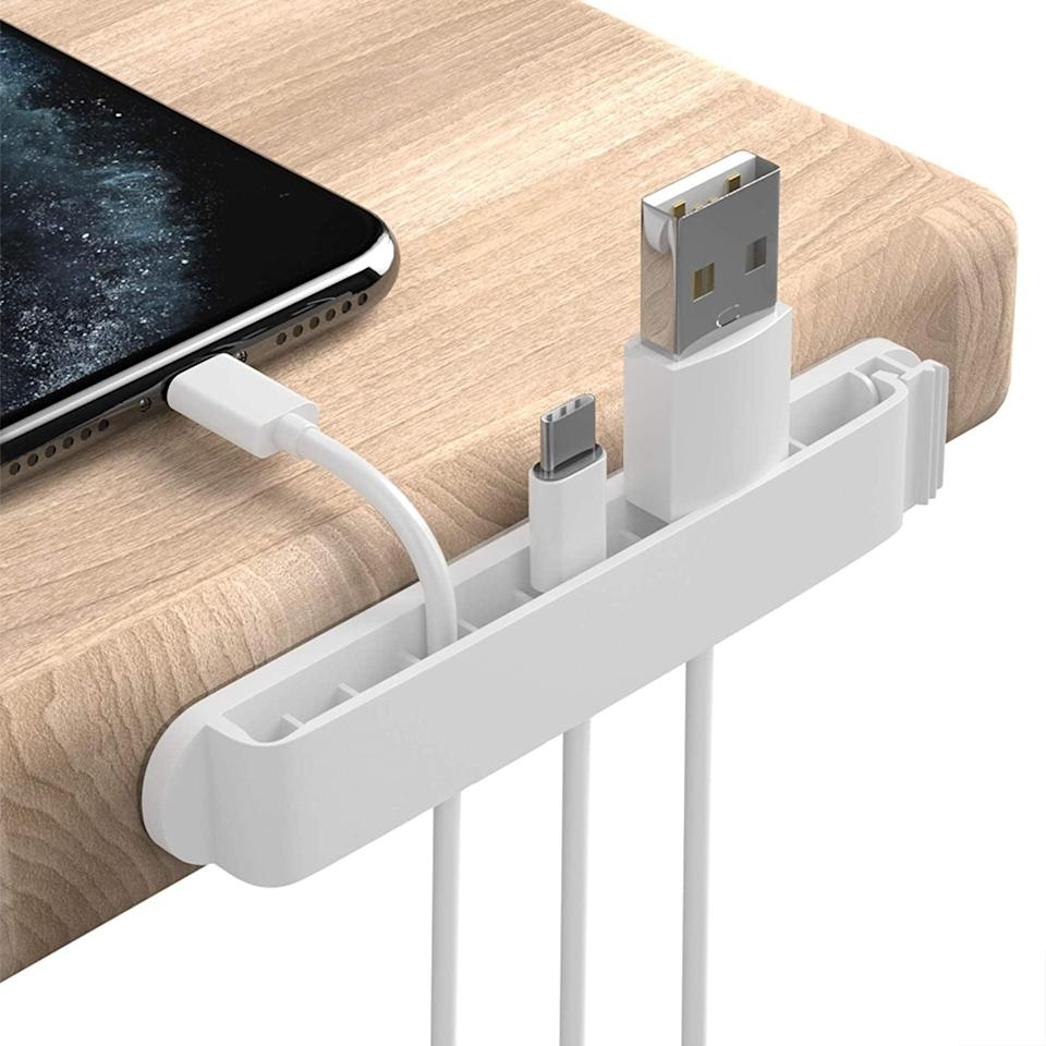 <p>The <span>Pzoz Cable Clips</span> ($10) will keep your cords organized and manageable, so you can charge with ease.</p>