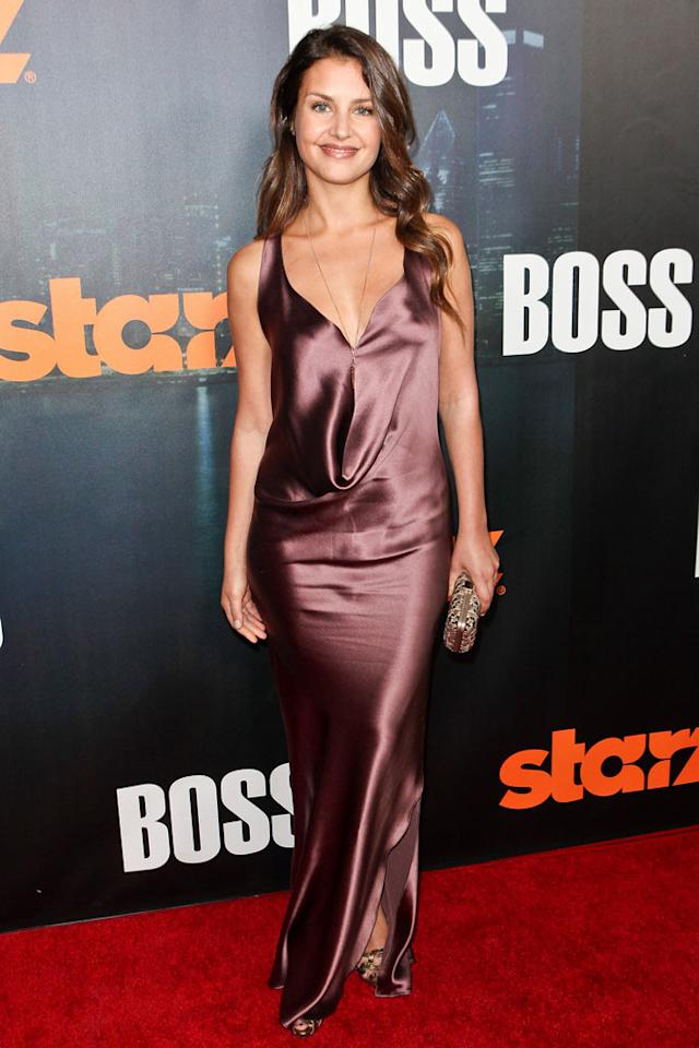 "<a href=""/hannah-ware/contributor/2536086"">Hannah Ware</a> arrives at the premiere of Starz's ""<a href=""/boss/show/46953"">Boss</a>"" at ArcLight Cinemas on October 6, 2011 in Hollywood, California."