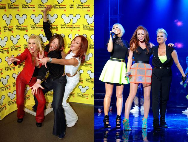 Big Reunion bands before and after: Atomic Kitten were fun and fiesty back in 2000 [left] and they haven't changed much in the last 13 years [right] Copyright [PA/Rex]