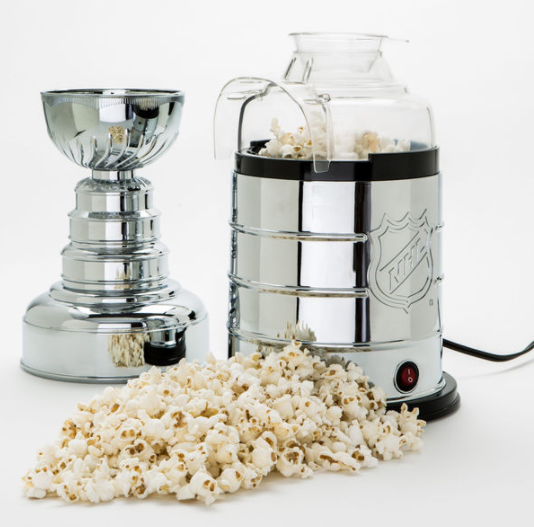 Popcorn and the Stanley Cup? It doesn't get much better than that. (NHL.com)