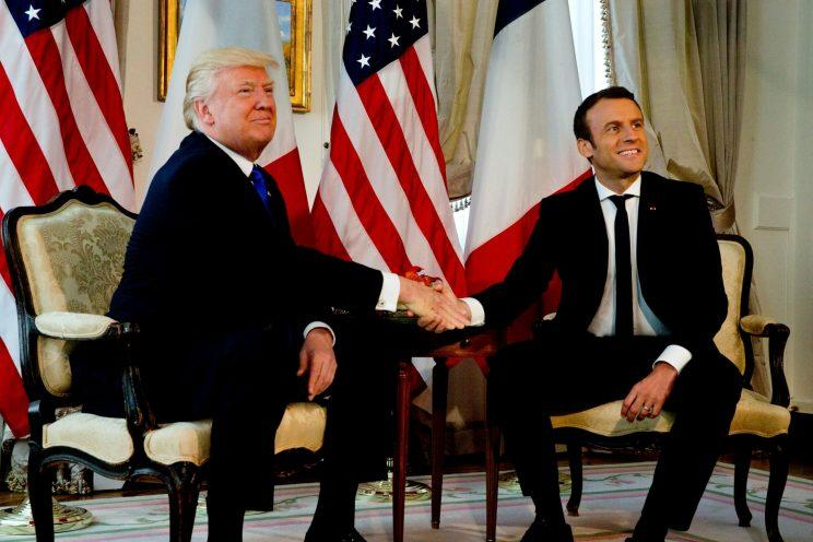 President Trump also met French President Emmanuel Macron in Belgium during a May NATO summit.
