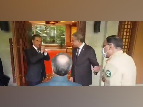 A screengrab from video posted by Chinese Foreign Ministry Spokesperson