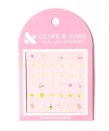 """<p><strong>Olive & June</strong></p><p>target.com</p><p><strong>$7.50</strong></p><p><a href=""""https://www.target.com/p/olive-38-june-nail-art-stickers-loveliest-day/-/A-76501084"""" rel=""""nofollow noopener"""" target=""""_blank"""" data-ylk=""""slk:Shop Now"""" class=""""link rapid-noclick-resp"""">Shop Now</a></p><p>Nail art doesn't get easier than these teeny stickers, which can be applied to any manicure.</p>"""