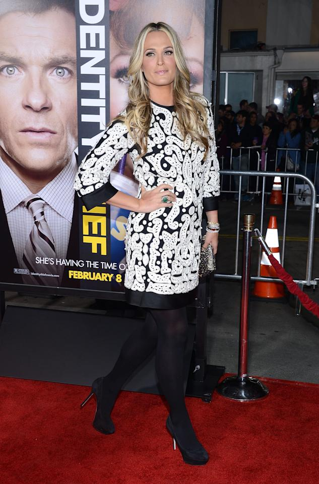 "WESTWOOD, CA - FEBRUARY 04:  Model Molly Sims attends the Premiere Of Universal Pictures' ""Identity Theft"" on February 4, 2013 in Westwood, California.  (Photo by Jason Kempin/Getty Images)"