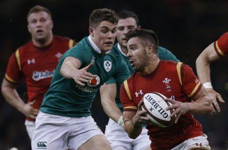 FILE PHOTO - Britain Rugby Union - Wales v Ireland - Six Nations Championship - Principality Stadium, Cardiff - 10/3/17 Wales' Rhys Webb in action with Ireland's Garry Ringrose Action Images via Reuters / Andrew Boyers Livepic