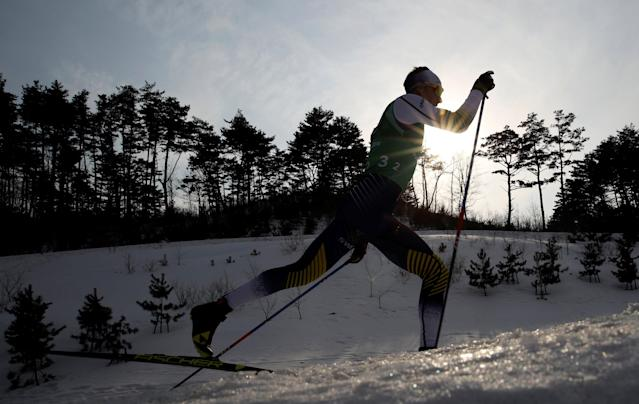 "Cross-Country Skiing - Pyeongchang 2018 Winter Olympics - Men's 4x10 km Relay - Alpensia Cross-Country Skiing Centre - Pyeongchang, South Korea - February 18, 2018 - Daniel Rickardsson of Sweden in action. REUTERS/Carlos Barria SEARCH ""OLYMPICS BEST"" FOR ALL PICTURES. TPX IMAGES OF THE DAY."