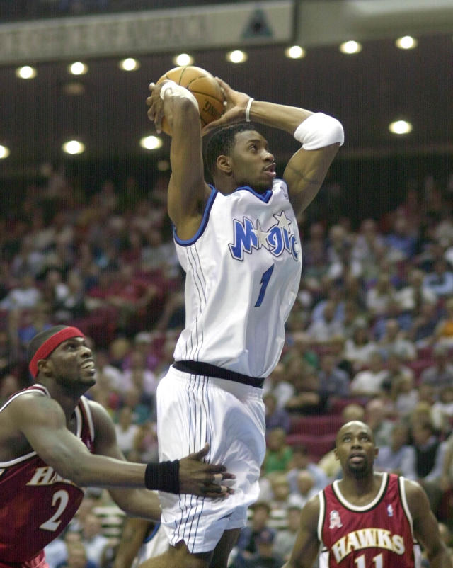 "Tracy McGrady became a star with the <a class=""link rapid-noclick-resp"" href=""/nba/teams/orl/"" data-ylk=""slk:Orlando Magic"">Orlando Magic</a>. (AP)"