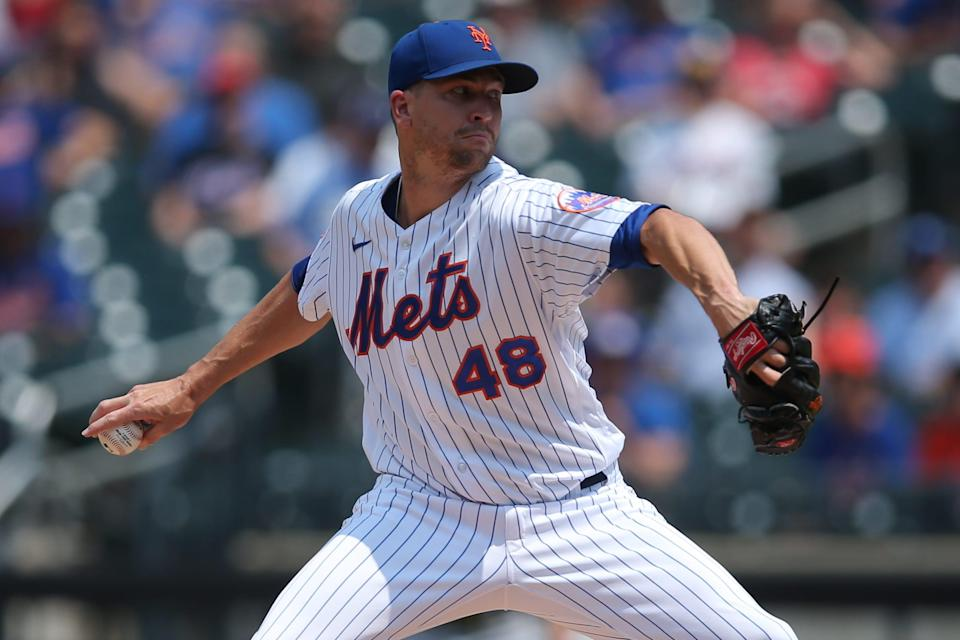 Mets starting pitcher Jacob deGrom did not take part in the 2021 All-Star Game.