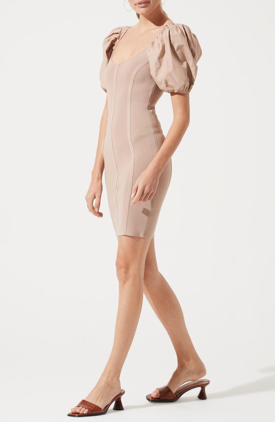 <p>Style this <span>ASTR the Label Balloon Sleeve Body-Con Dress</span> ($43, originally $79) with brown low-heeled sandals, and prepare for the compliments.</p>