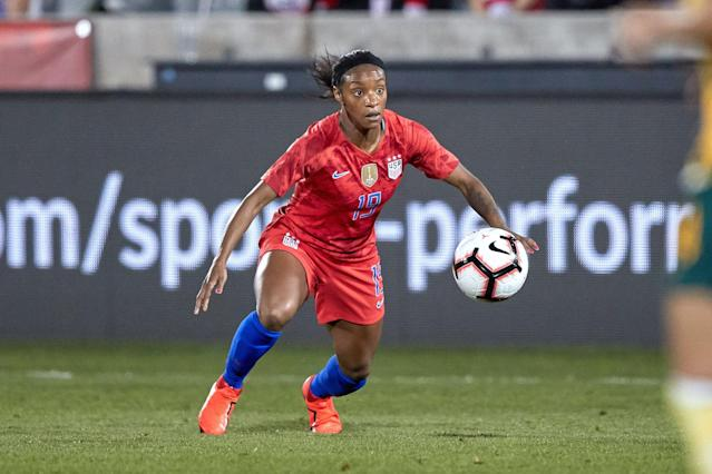 Crystal Dunn is a forward for the North Carolina Courage, but will be switching to defense for the USWNT. (Getty Images)