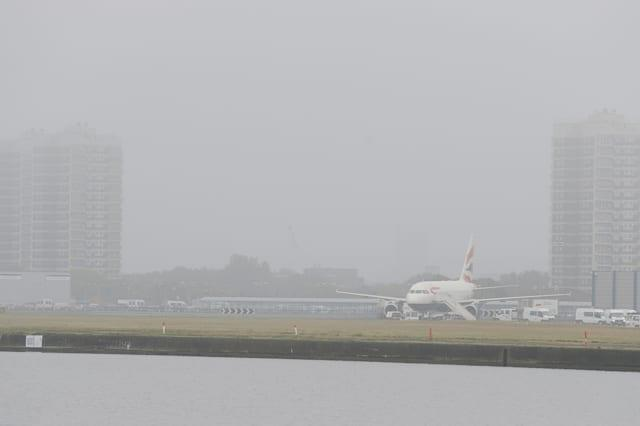London City Airport cancels half of flights amid fog