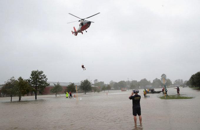 The city of Houston is underwater because of Hurricane Harvey. Some of its most prominent figures are using their platforms to encourage people to help.