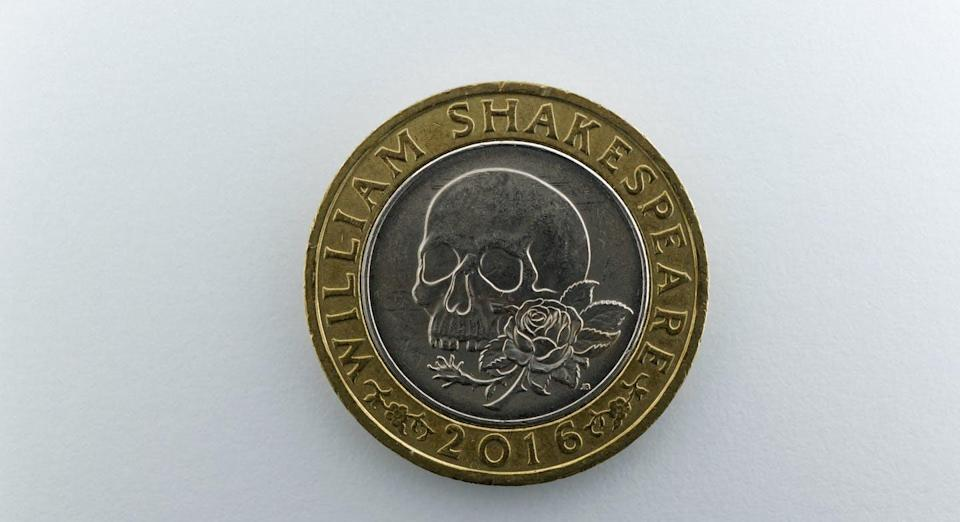 """<span class=""""caption"""">Shakespeare did an excellent job of depicting the real nature of money, Karl Marx believed. A £2 coin issued in 2016 to mark the 400th anniversary of Shakespeare's death. </span> <span class=""""attribution""""><span class=""""source"""">(Shutterstock)</span></span>"""
