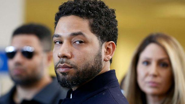 PHOTO: Jussie Smollett speaks with members of the media after his court appearance at Leighton Courthouse, March 26, 2019, in Chicago, Illinois. (Nuccio Dinuzzo/Getty Images, FILE)