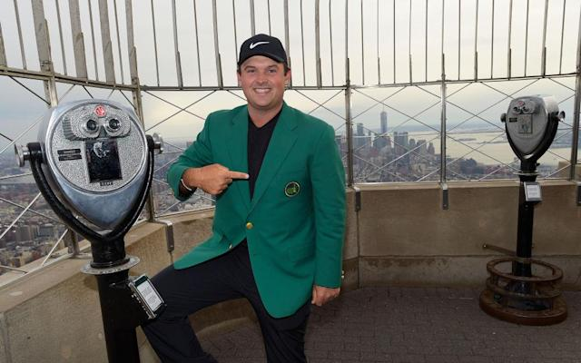 Patrick Reed atop the Empire State Building.