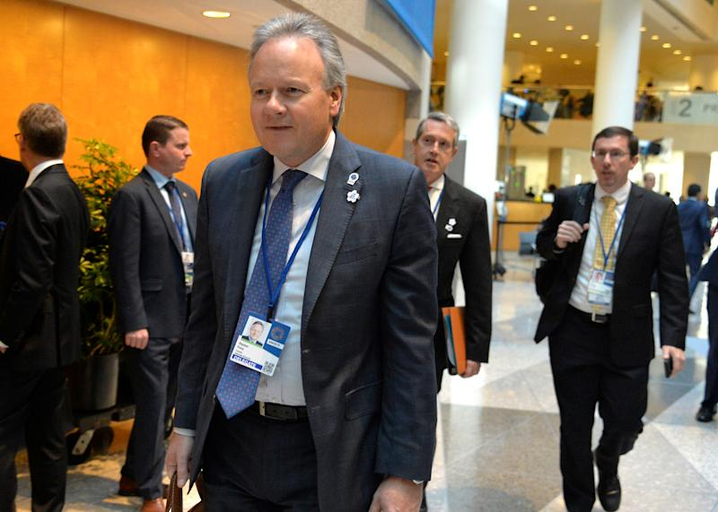 Bank of Canada's Governor Stephen Poloz arrives for the G20 meeting during the IMF and World Bank's 2019 Annual Fall Meetings of finance ministers and bank governors, in Washington, October 18, 2019. REUTERS/Mike Theiler