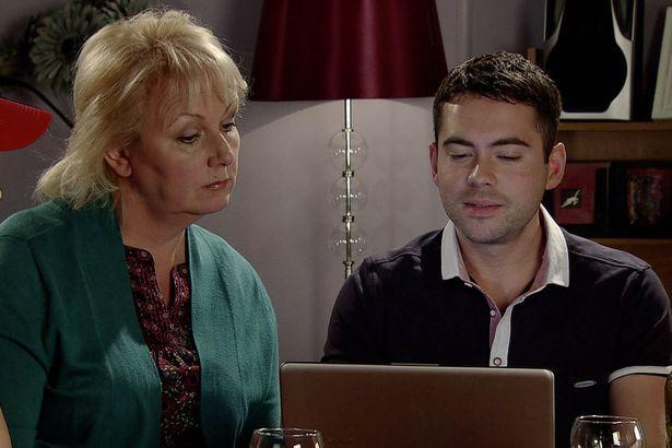 Bruno was immediately axed from the ITV soap. Copyright: [ITV]