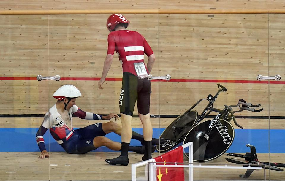 Charlie Tanfield and Frederik Madsen crashed (Danny Lawson/PA) (PA Wire)